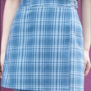 Blue Brandy Melville Emerson Skirt